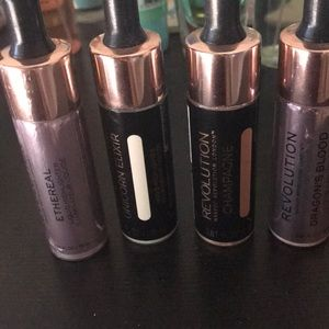 Makeup revolution liquid highlighter-lot for sale